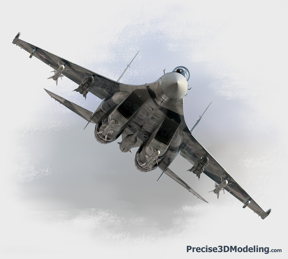 Su-35 multi-role fighter: precise3dmodeling.com/models/aerospace/su35.html
