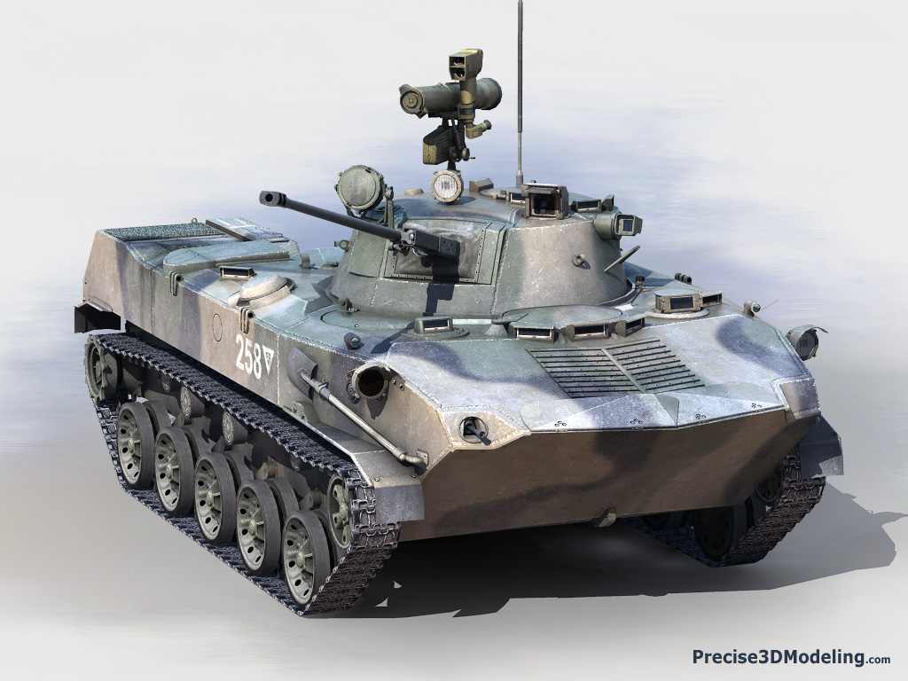 Russian BMD-2 airborne combat vehicle
