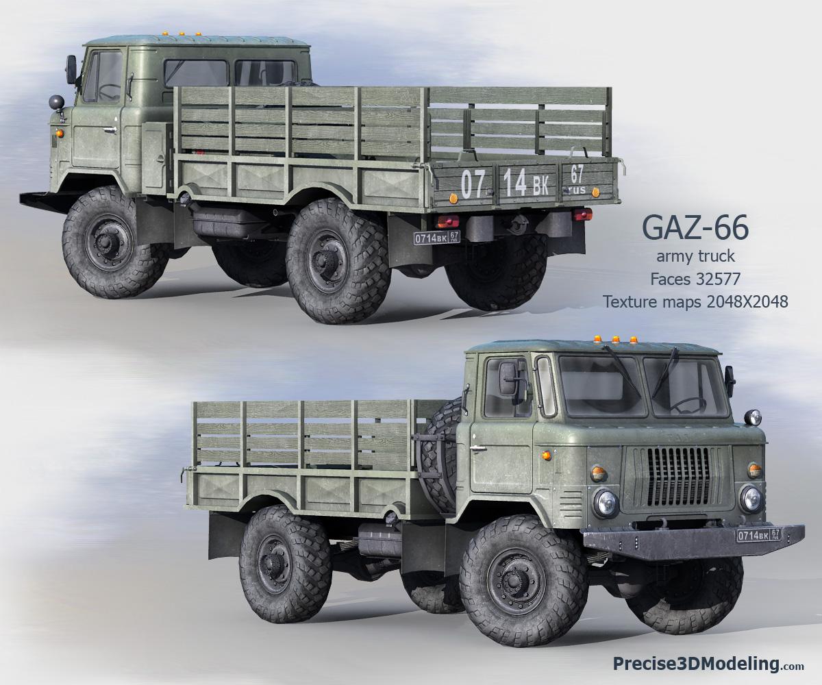 Russian Army Gaz 66 Truck